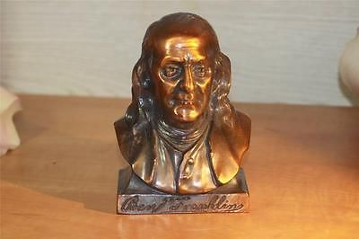 Vintage Bank Coin Piggy Still Ben Franklin Copper Plated Franklin Life Insurance | eBay