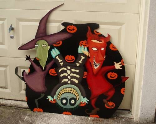 Lock Shock And Barrel From Nightmare Before Christmas Wall