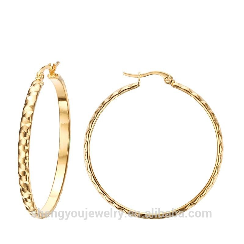 2017 Low Price Wholesale Large Ring Earring 18k Gold Earrings ...