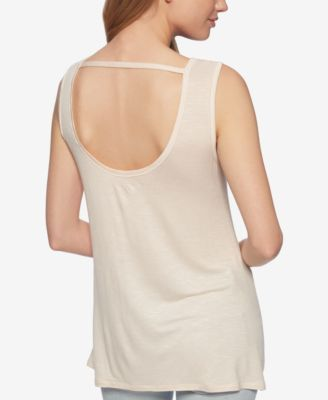 af037480f Jessica Simpson U-Back Graphic Tank Top - Ivory/Cream XL | Products ...