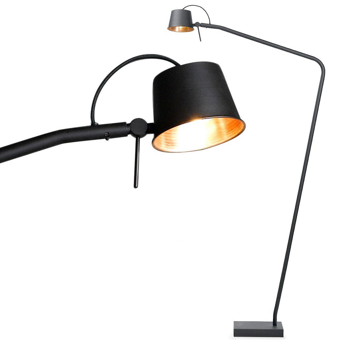 Lese Stehlampe Matt Schwarz Und Kupfer Bliss Von Breda Leuchten