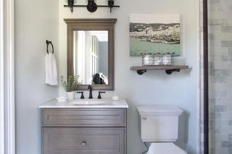 Photo of Gray marble tile with oil rubbed bronze fixtures #bathroomfixtures