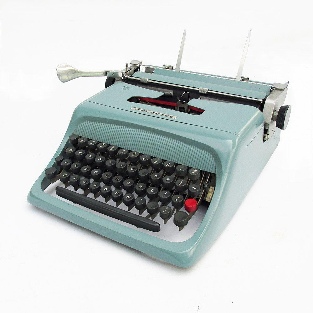 1960s olivetti underwood studio 44 portable manual typewriter with rh pinterest co uk Olivetti Typewriter Models Yellow Olivetti Typewriters
