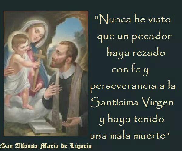 Resultado de imagen de frases de san alfonso maria de ligorio sobre la virgen