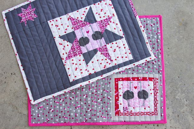 Olive the Ostrich Placemats by Darci - Stitches, via Flickr