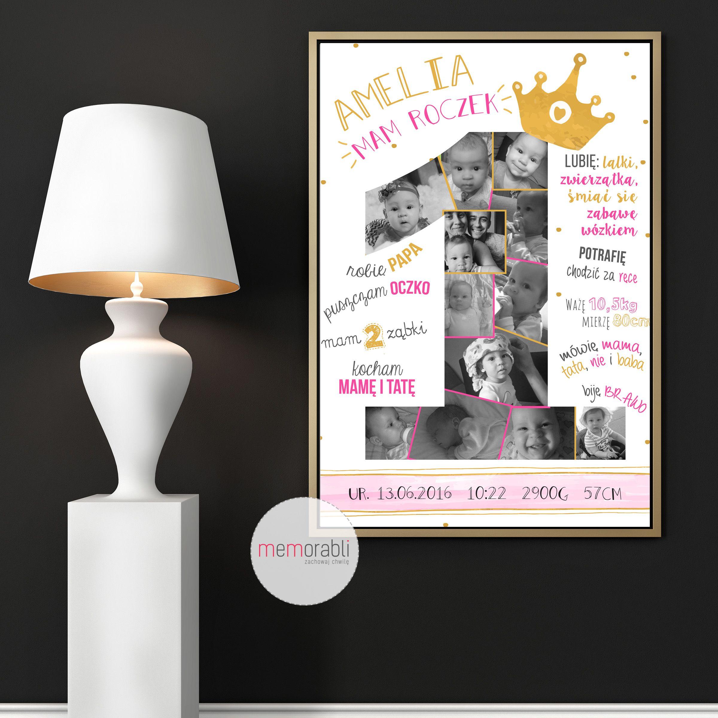 Metryczka Plakat Dla Dziecka Na Pierwsze Urodziny Plakat Prezent Na Sciane Grafika Obrazek Dla Dziecka Pokoj Pamiatka Urodziny Tworczy Dla Dzieci