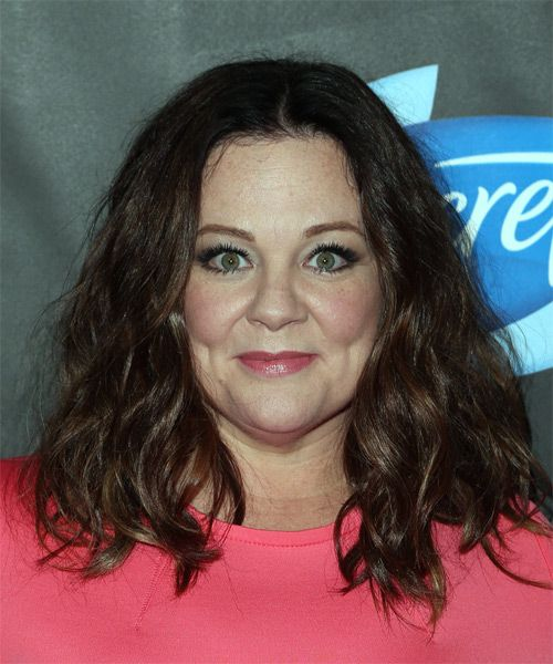 Melissa Mccarthy Hairstyles Impressive Melissa Mccarthy Long Wavy Casual Bob Hairstyle  Dark Brunette