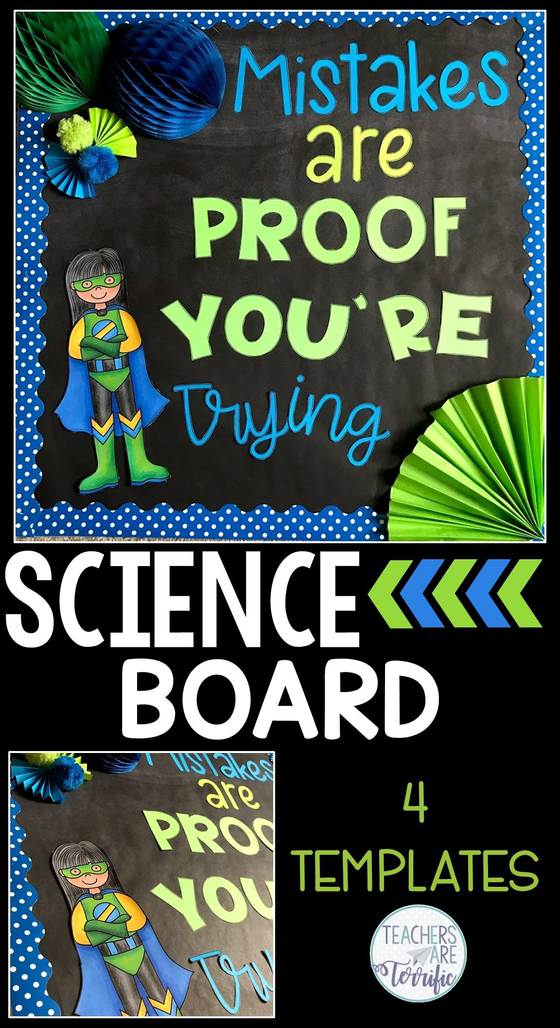 science bulletin board templates set 2 science bulletin board