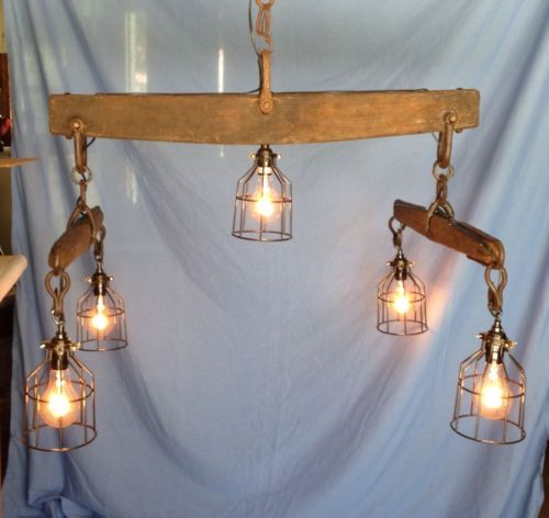 Antique Horse Yoke Double Tree Rustic Barn Light Fixture Chandelier Rustic Lighting Cool Lighting Barn Light Fixtures