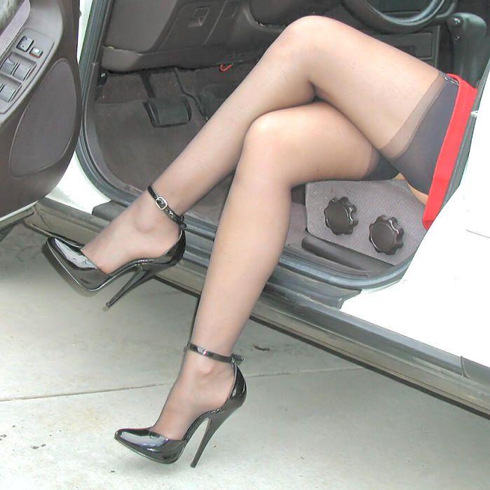 Something pantyhose 8inch high heels