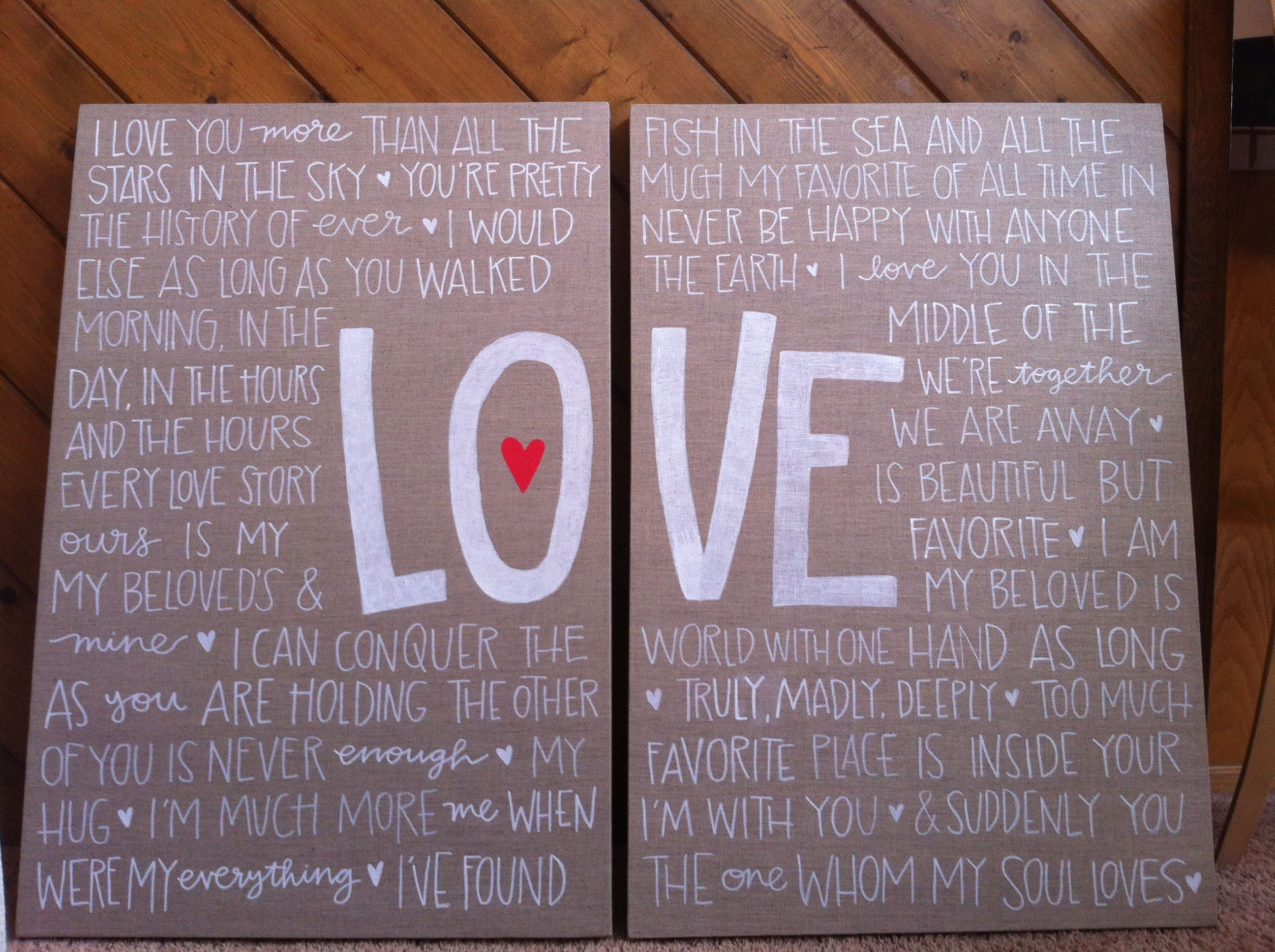 Love Quote Canvas Love Quotes On Canvas  Google Search  Quotes  Pinterest  Wood