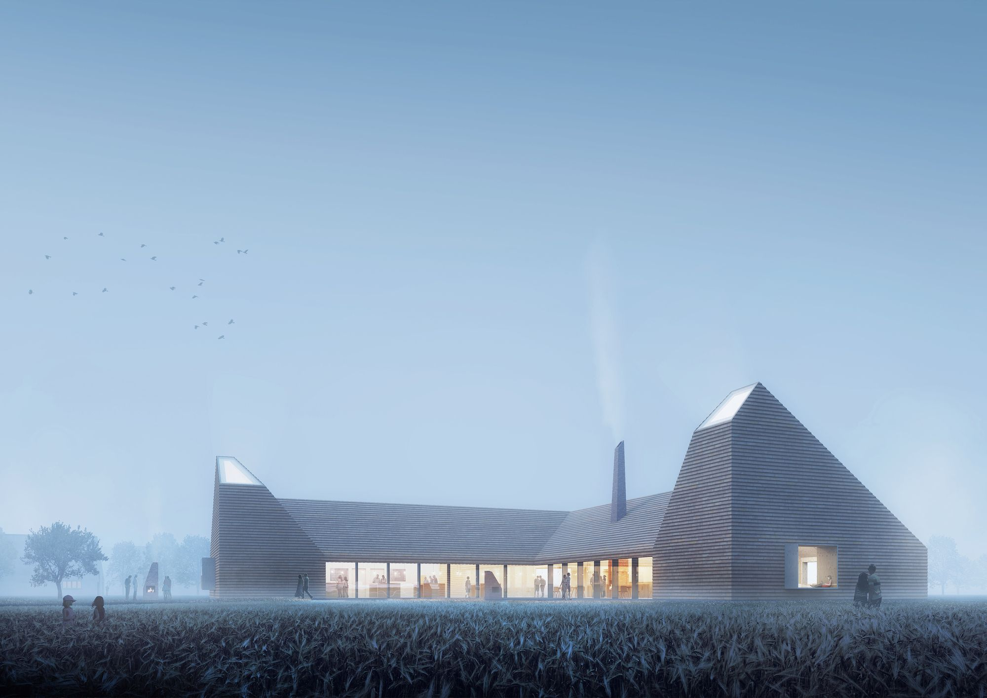 Reiulf Ramstad Arkitekter Wins Competition for Kiln-Inspired Food Education Center in Denmark