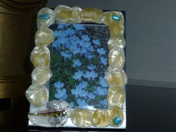 Dragon Fly photo frame with yellow jingle by SeaArtCreationsLLC