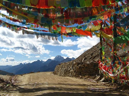 Prayer Flags in Tibet, China, Asia.