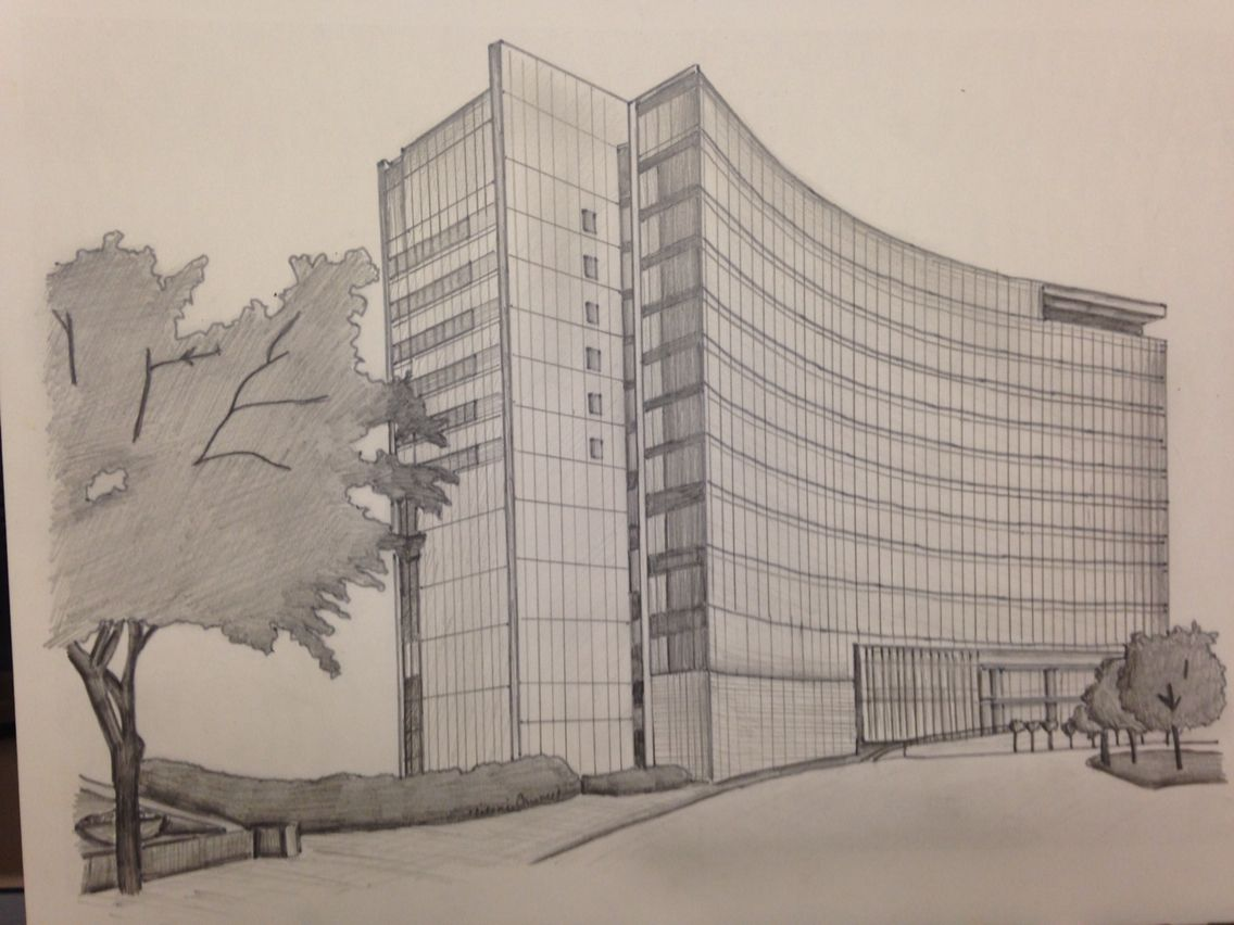 Pen and ink building/home hand drawing done as a gift