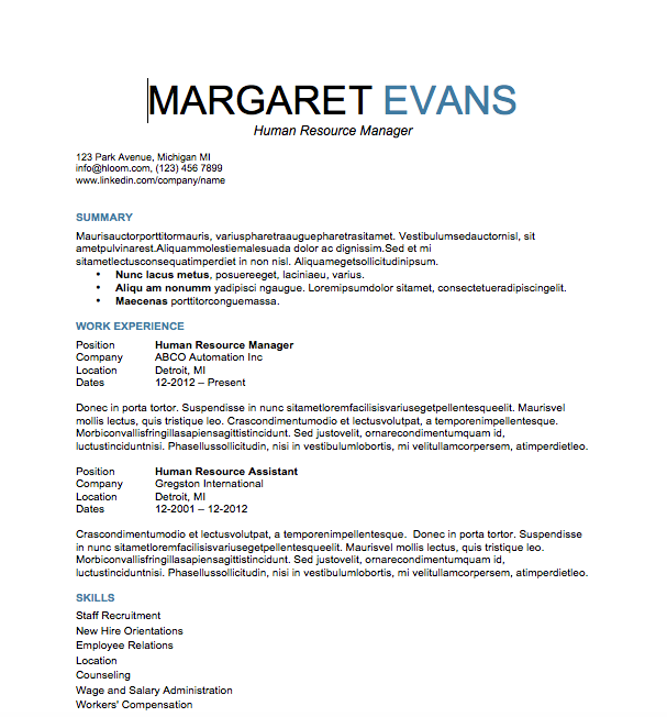 Free Resume Download Attention To Detail  Microsoft Word Format
