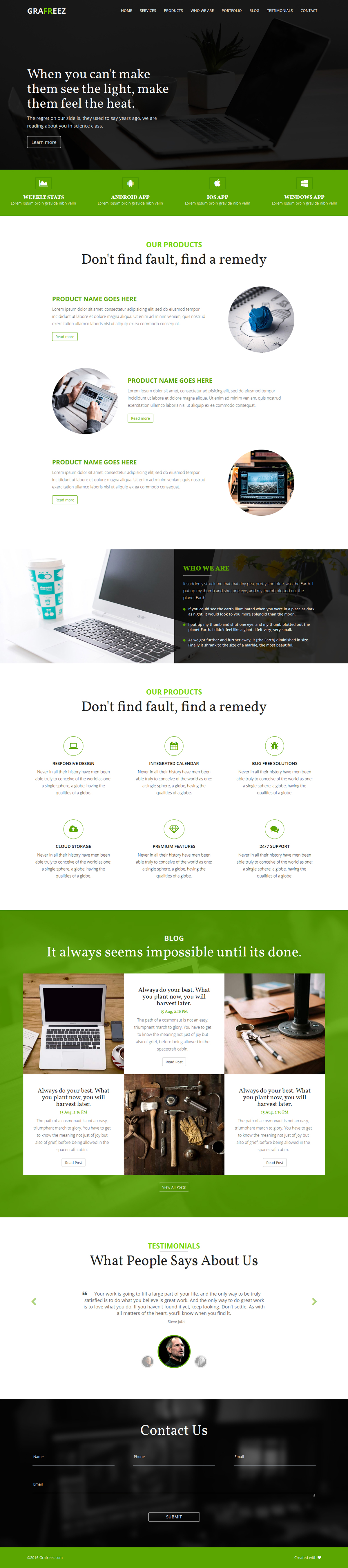 Buzz Bootstrap Business Landing Page Template on Behance