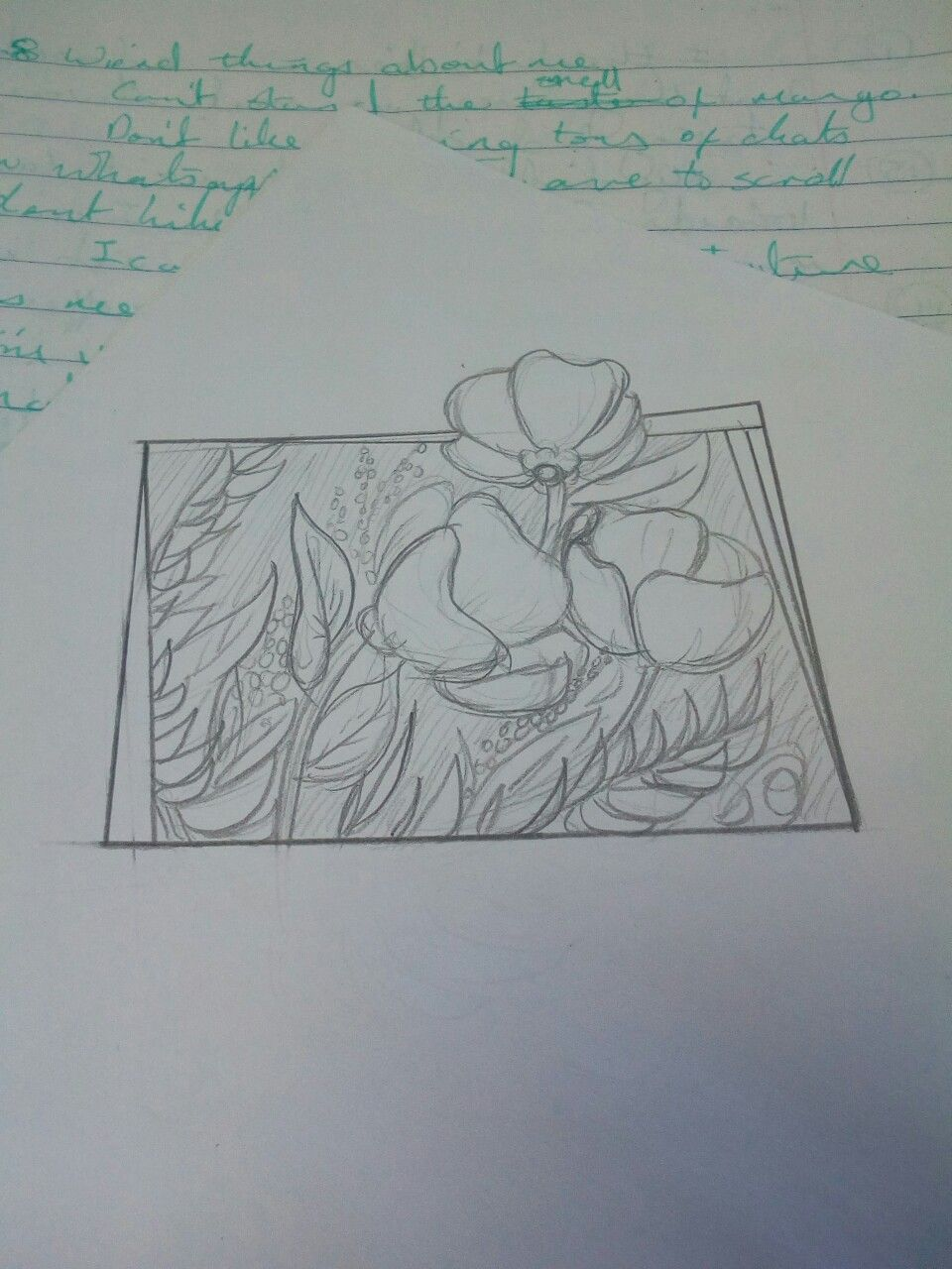 I like drawing flowers even if they arenut totally accurate my