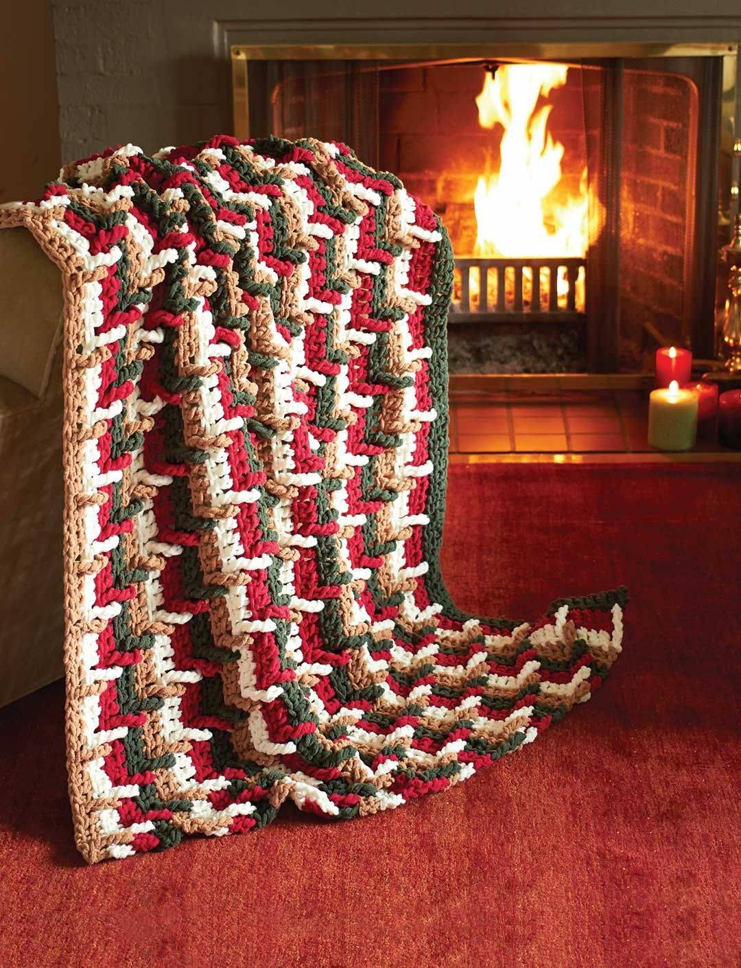 Yarnspirations.com - Bernat Step Ladder Afghan | Yarnspirations ...