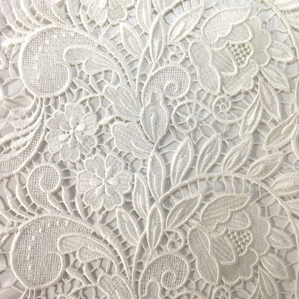 Ivory Tulip Guipure French Venice Lace Yards Fabrics