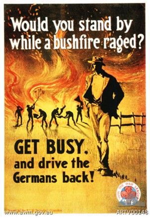 War Propaganda Ww1 Australia V Germans Library Posters Ww1 Posters War
