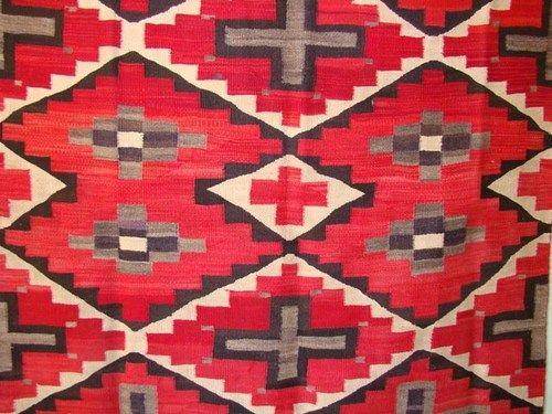 Antique Navajo Rug Navaho Native American Indian Blanket Spider Woman Crosses Ebay 49 X 84
