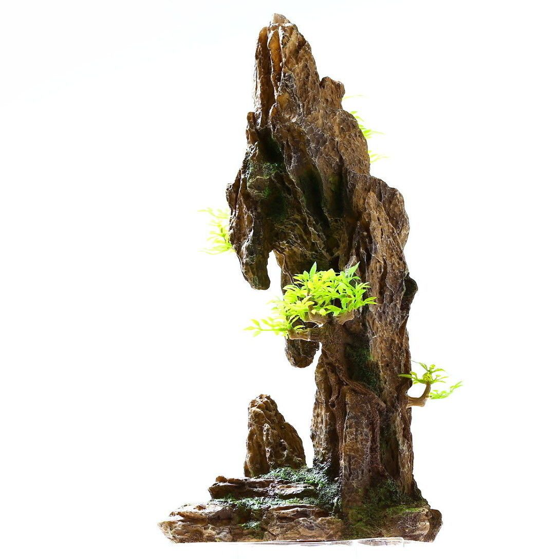 Mountain View 13.8 H Aquarium Ornament Decoration  fish tank tree Cave Resin