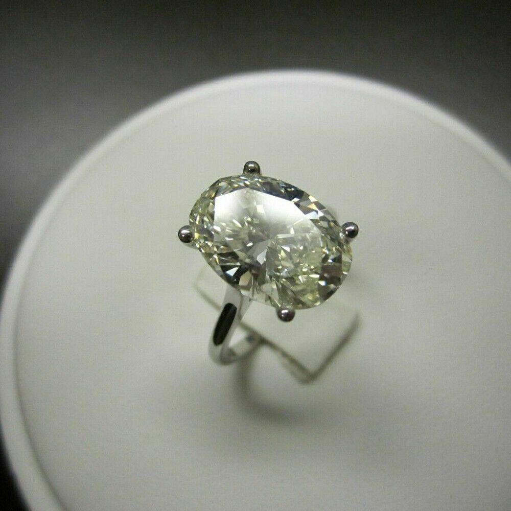 409fff68e223e 5.00 Ct Oval Cut Diamond Solitaire Engagement Wedding Ring Solid 10k ...
