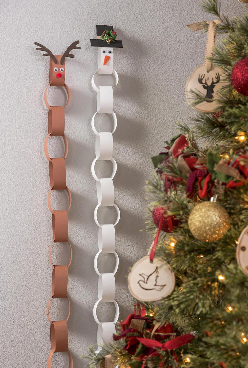 Make an EASY Paper Chain Kids Advent Calendar Paper