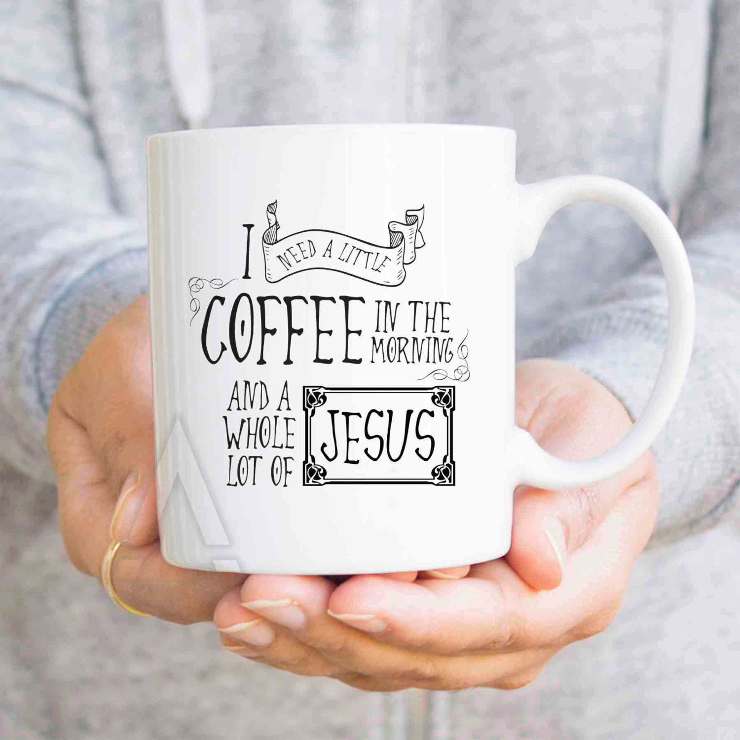 Christian Mugs, Religious Christmas Gifts, Coffee Mugs, I Need A