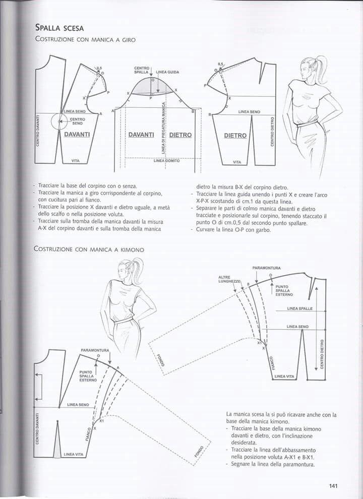 Spalla scesa | Patrones | Pinterest | Patrones, Costura y Costura patrón