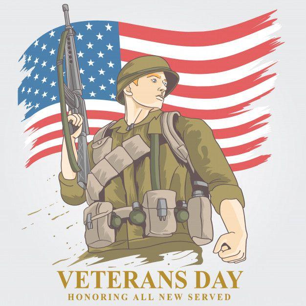 VETERANS DAY American veterans  Premium Vector