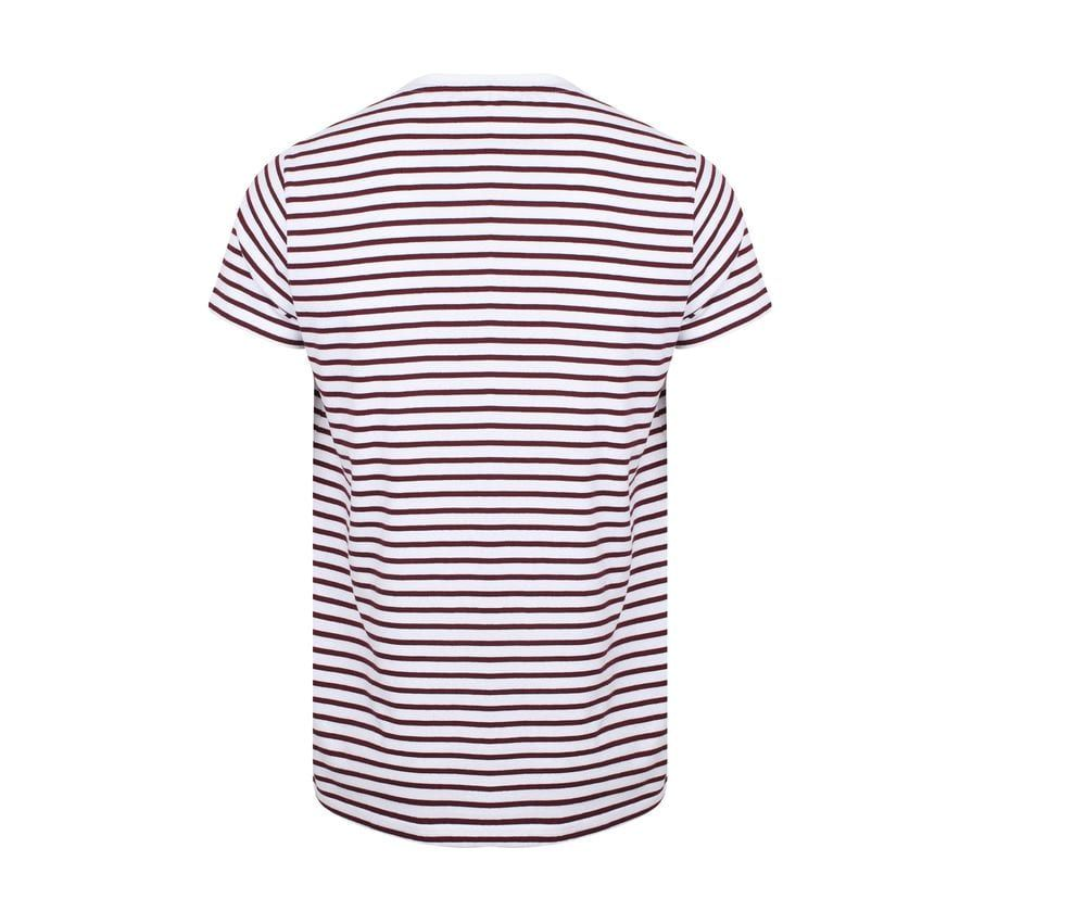 Unisexe Striped T White / Burgundy – SF Men SF202 – Größe: 2XL   – Products