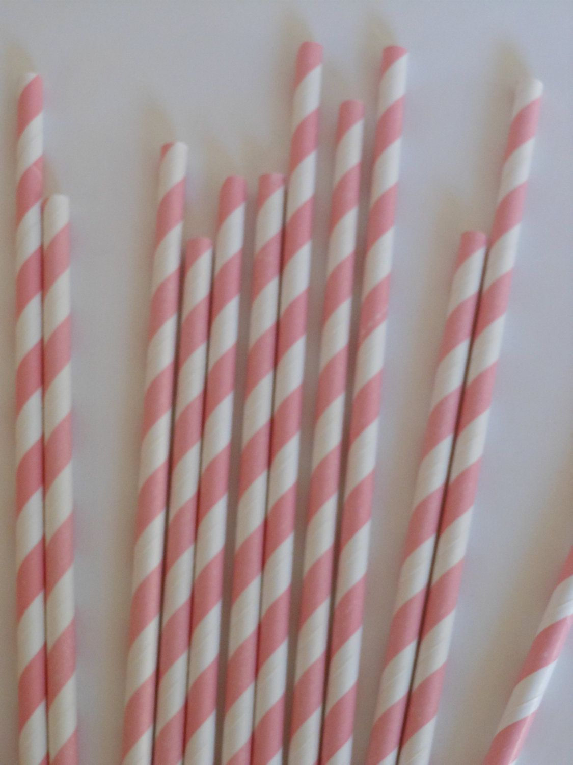 Pink and White Striped Retro Straws 25 by ASweetCelebration, $4.00