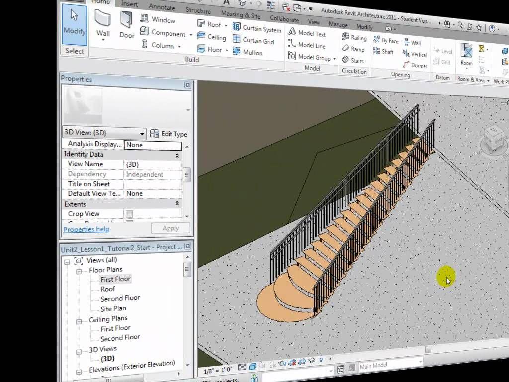 Best Revit Architecture Modeling Custom Stair Shapes Revit 640 x 480