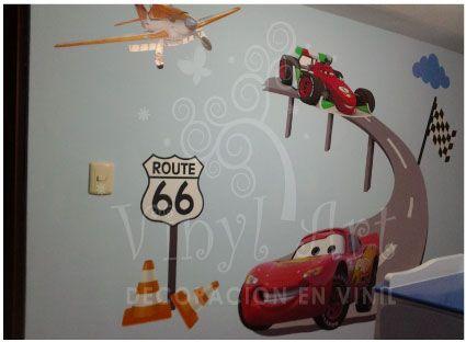 Mural en vinil de Cars Consultas al 971104270