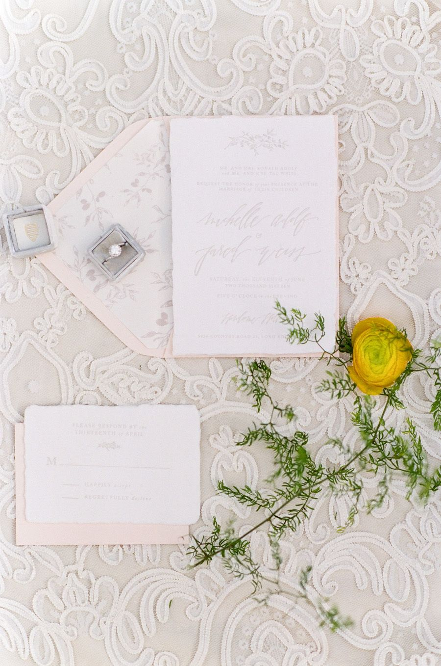 Photography : Tamara Gruner Photography | Invitations : Foil and Ink Read More on SMP: http://www.stylemepretty.com/little-black-book-blog/2016/11/10/yellow-fall-wedding-inspiration-shoot/