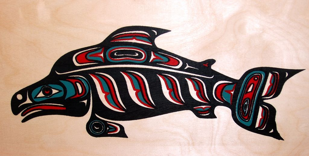 Native American Fish Drawings