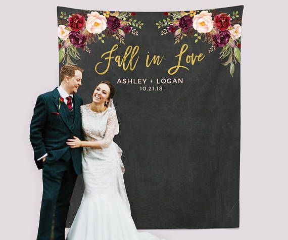 Fall In Love Wedding Photo Backdrop Fall Engagement Party Decorations Fall In Love Banner Autumn Wedding Decor Engagement Backdrop Ideas Photo Backdrop Wedding Wedding Backdrop Wedding Inspiration Fall