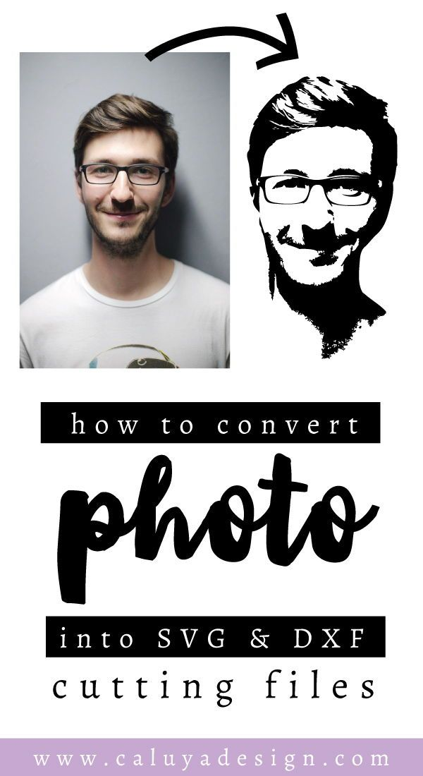 How to Convert a Portrait Photo Into SVG & DXF Cuttable File is part of Silhouette - Learn How to Convert a Portrait Photo Into SVG & DXF Cuttable File by Caluya Design  With this vide tutorial, you can turn photo of your loved ones into SVG file, cut them with your Cricut or Cameo Silhouette