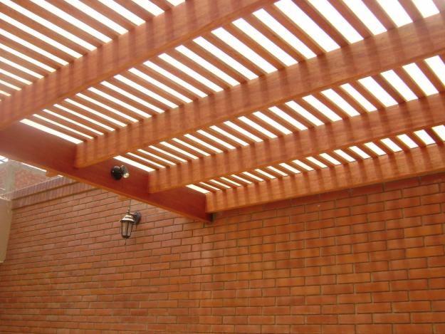 Techos de madera ticona terraza pinterest pergolas for Techos en madera para patios