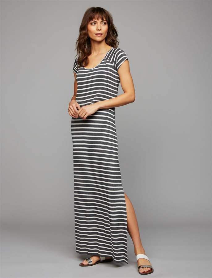 903568499b3 A Pea in the Pod Lift Up Striped Nursing Maxi Dress  ad