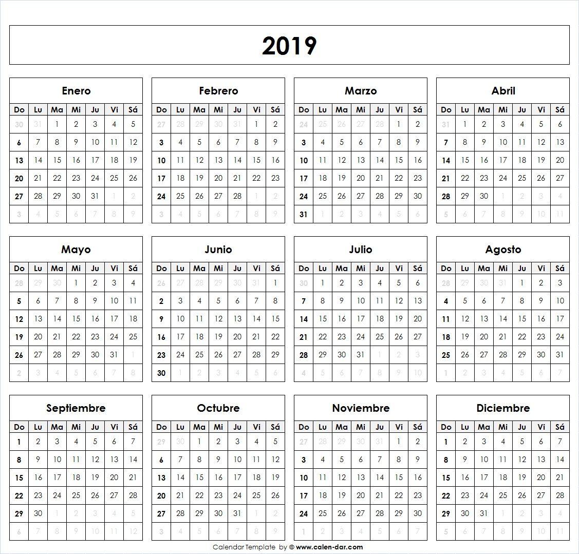 Calendario 2019 Chile Con Feriados Para Imprimir.Calendario 2019 Mas De 150 Plantillas Para Imprimir Y