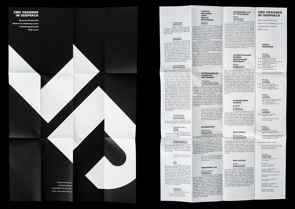 Exhibition postersand brochure.2014Customer:Museum of DesignZürichPoster formats:89x1280mm (APG F4)250x350mm330x495mmBroshure format:82x165mmFont:UniversAdrian FrutigerPaper:Blocker, 80 gm2Fischer Papier AGTechnique:Screen print