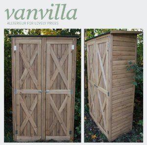 Awesome vanvilla Ger teschuppen Holz Flachdach Gro Braun lasiert Ger tehaus Gartenschrank Amazon de Garten