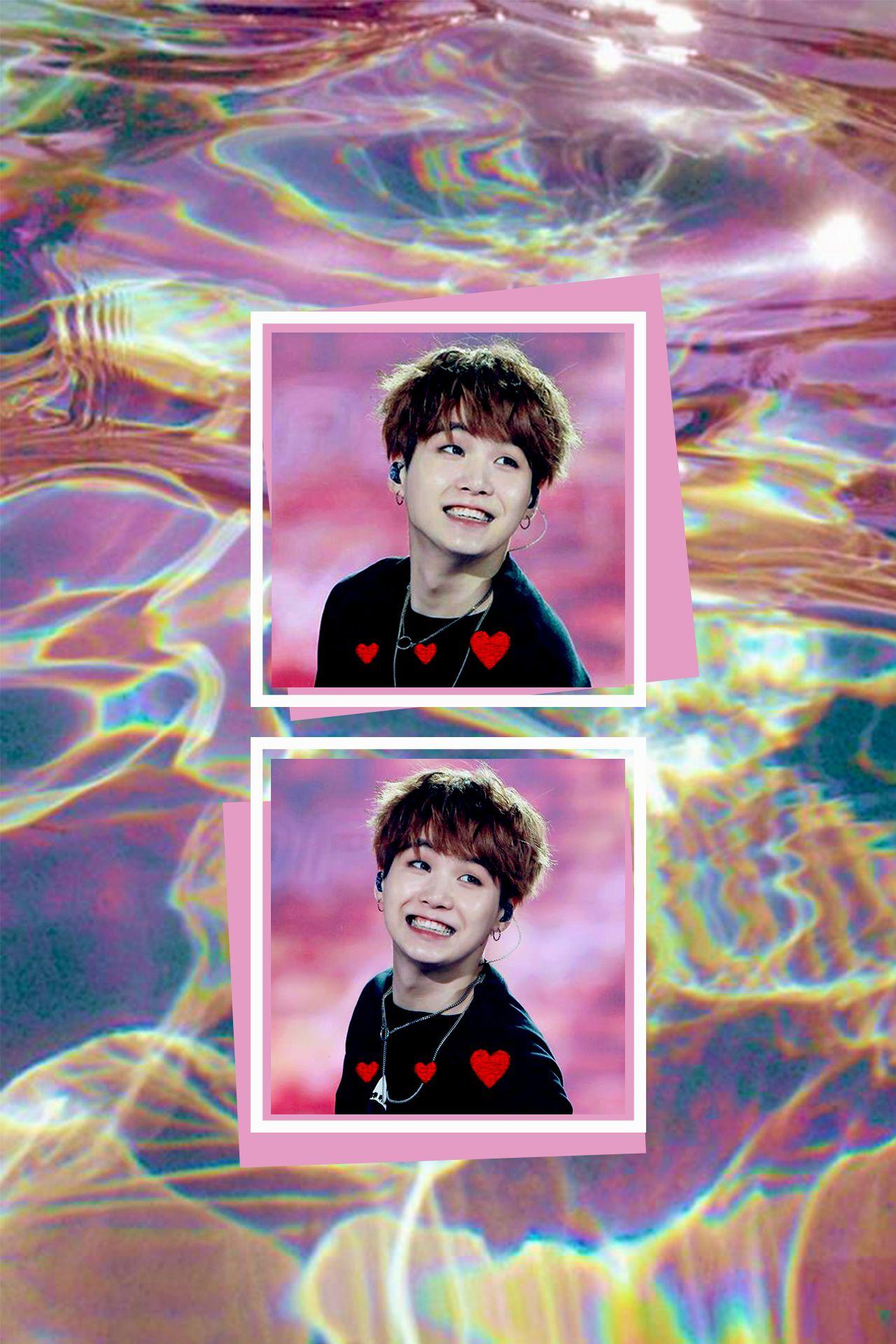 Min Yoongi Aesthetic Wallpaper Bts Suga Wallpaper Pink Agustd Smilin At U Aesthetic Wallpapers Instagram Aesthetic Pastel Aesthetic