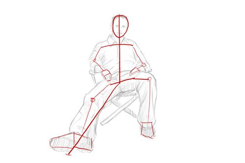 How To Draw A Seated Person Seated Figure Person Sitting Person Drawing Stick Figure Drawing