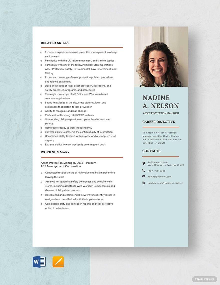 Asset protection manager resume manager resume resume