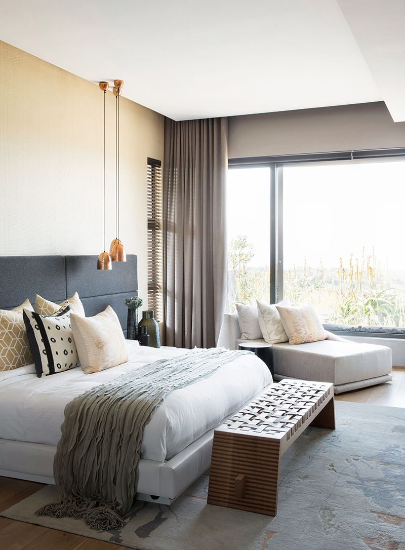 Contrast abounds in this umhlanga home scandinavian bedroom scandinavian design modern houses personality