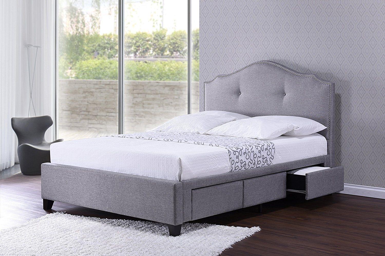 Gepolstert Plattform Bett Queen Ideen Schlafzimmer